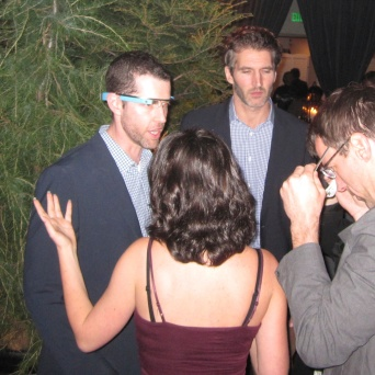 Creators & Executive Producers D.B. Weiss and David Benioff trying on Google Glass