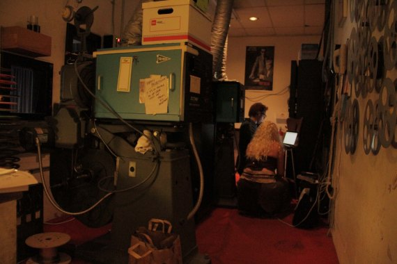 Projection Room at Variety Screening Room